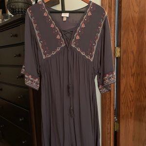Smock Dress, Gray, Size XXL.